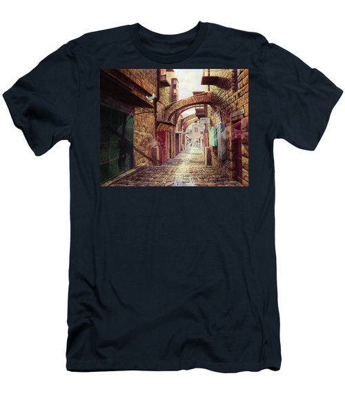 The Road To The Cross  Jerusalem Men's T-Shirt (Athletic Fit)