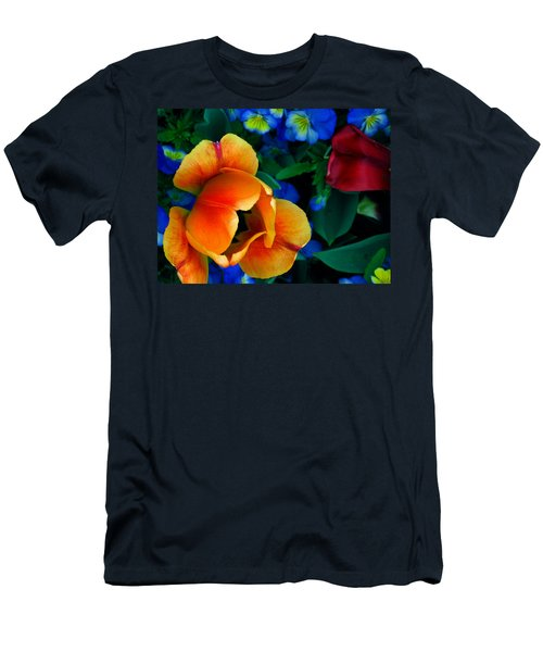 The Secret Life Of Tulips Men's T-Shirt (Slim Fit) by Rory Sagner