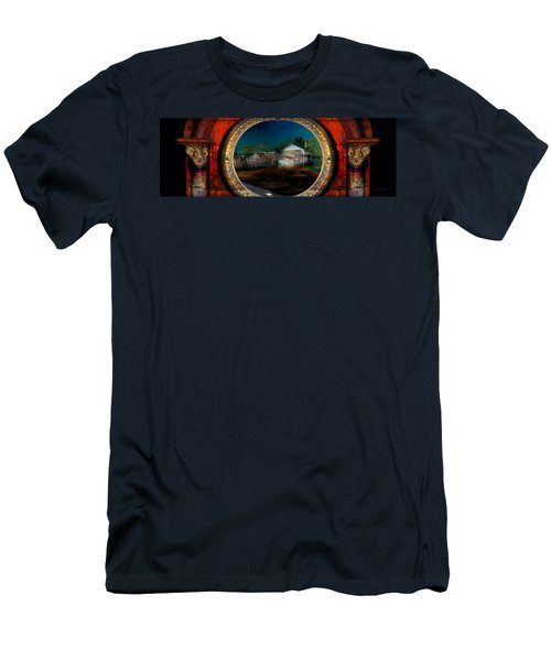 Men's T-Shirt (Athletic Fit) featuring the photograph The Street On The River by Gunter Nezhoda