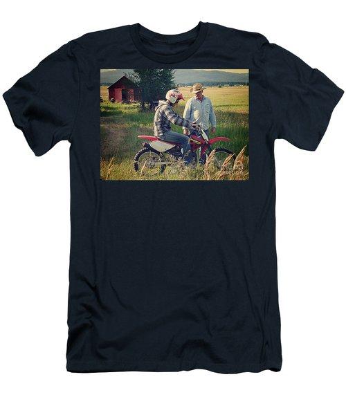 Men's T-Shirt (Slim Fit) featuring the photograph The Teacher by Meghan at FireBonnet Art