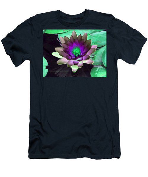 Men's T-Shirt (Slim Fit) featuring the photograph The Water Lilies Collection - Photopower 1114 by Pamela Critchlow