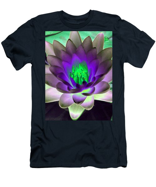Men's T-Shirt (Slim Fit) featuring the photograph The Water Lilies Collection - Photopower 1115 by Pamela Critchlow