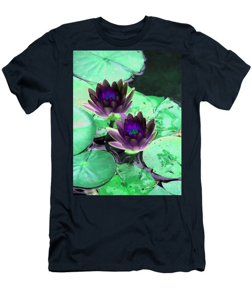 Men's T-Shirt (Slim Fit) featuring the photograph The Water Lilies Collection - Photopower 1119 by Pamela Critchlow