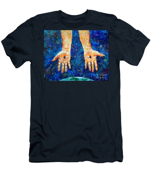 The Whole World In His Hands Men's T-Shirt (Athletic Fit)