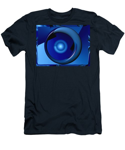 Thinking Of Blue Men's T-Shirt (Slim Fit) by Wendy J St Christopher