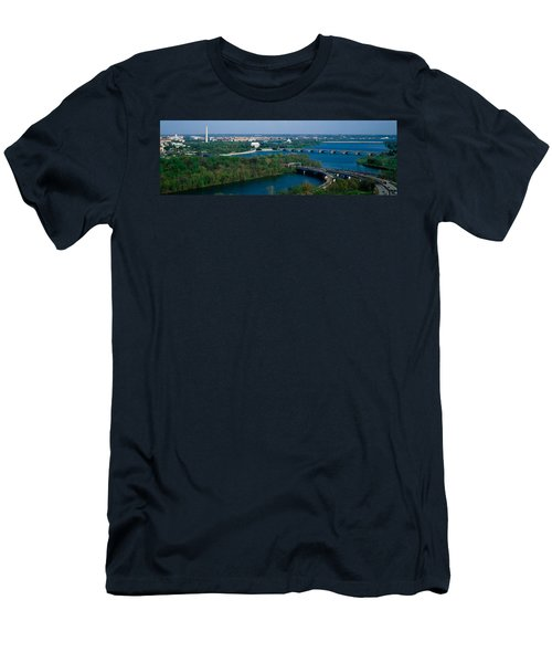This Is An Aerial View Of Washington Men's T-Shirt (Slim Fit) by Panoramic Images
