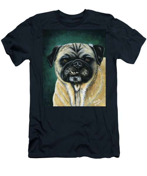 This Is My Happy Face - Pug Dog Painting Men's T-Shirt (Athletic Fit)