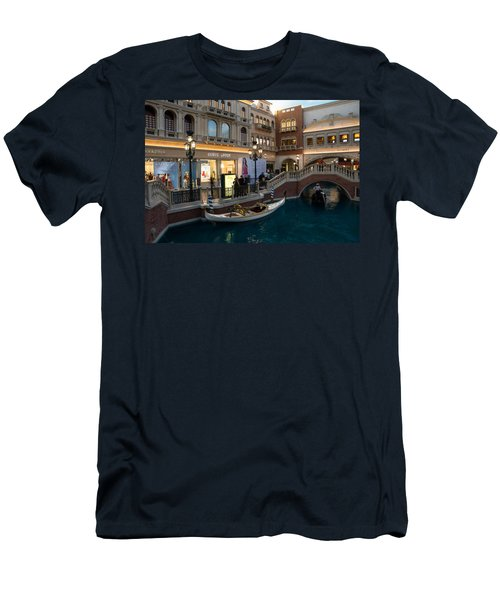 It's Not Venice - The White Wedding Gondola Men's T-Shirt (Athletic Fit)