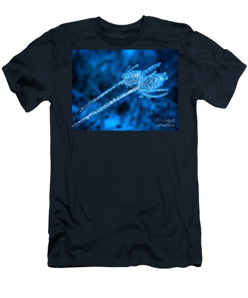 Thistle Plant On Icy Night Men's T-Shirt (Athletic Fit)