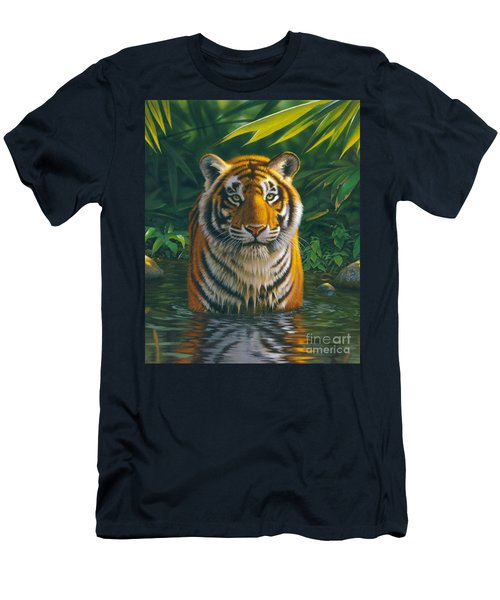 Tiger Pool Men's T-Shirt (Athletic Fit)