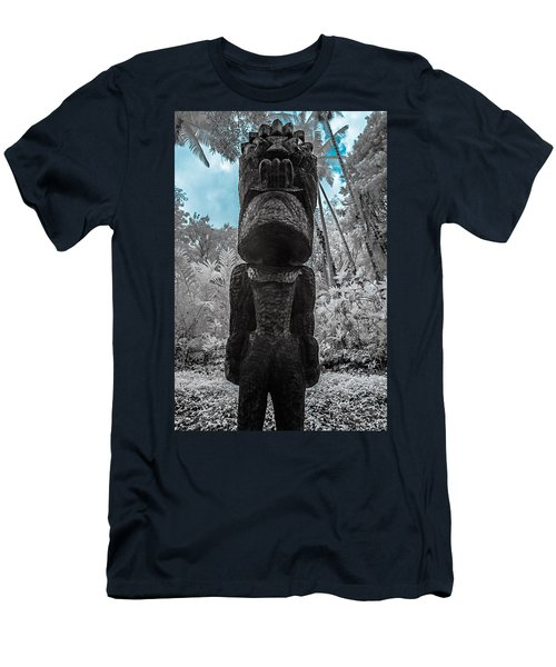 Tiki Man In Infrared Men's T-Shirt (Athletic Fit)
