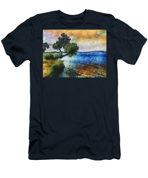 Time Well Spent - Medina Lake Men's T-Shirt (Slim Fit) by Wendy J St Christopher