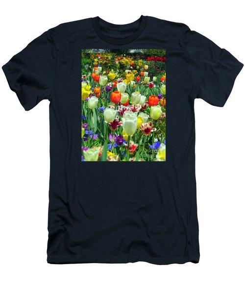Tiptoe Through The Tulips Men's T-Shirt (Slim Fit) by Elizabeth Dow