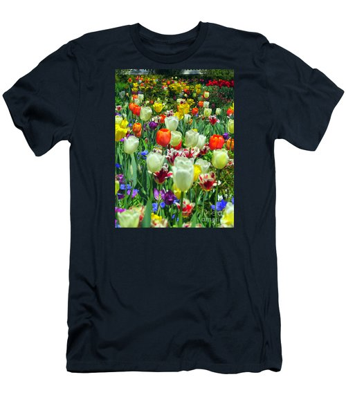 Tiptoe Through The Tulips Men's T-Shirt (Athletic Fit)