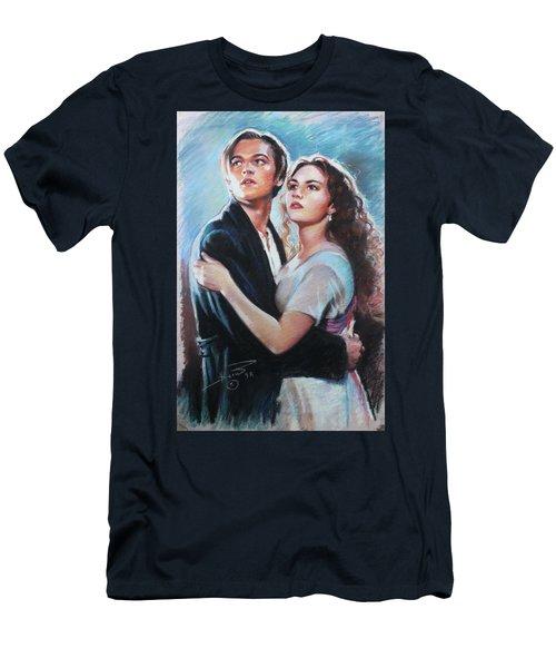 Titanic Jack And Rose Men's T-Shirt (Slim Fit) by Viola El