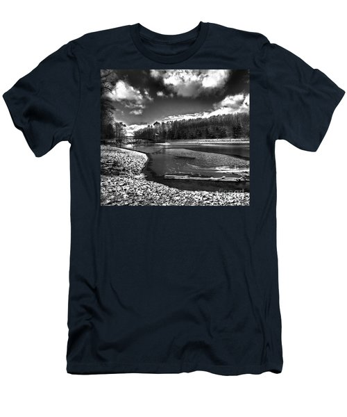Men's T-Shirt (Slim Fit) featuring the photograph To Grand Mother's House by Robert McCubbin