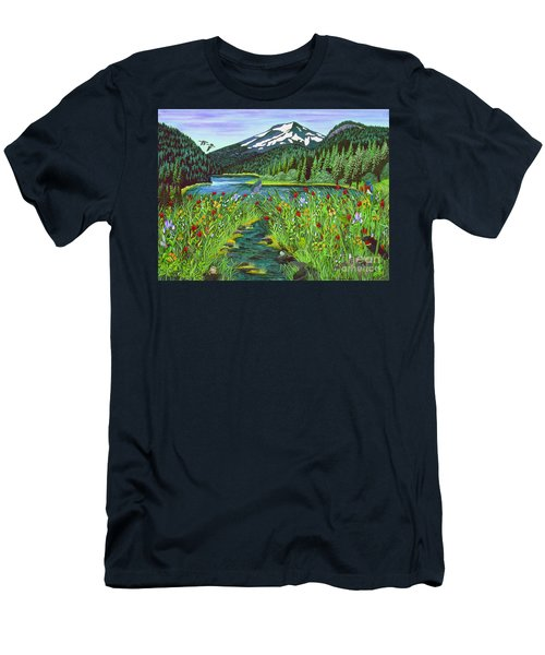 Todd Lake Mt. Bachelor Men's T-Shirt (Athletic Fit)