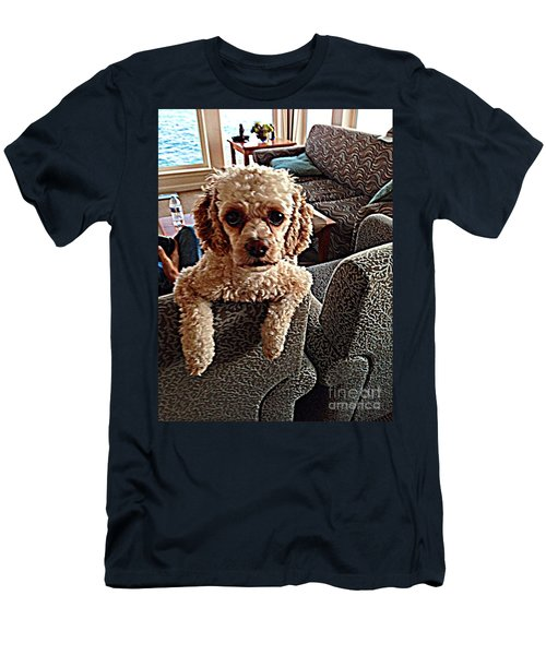 Men's T-Shirt (Slim Fit) featuring the photograph Toy Cockapoodle 1 by Richard W Linford