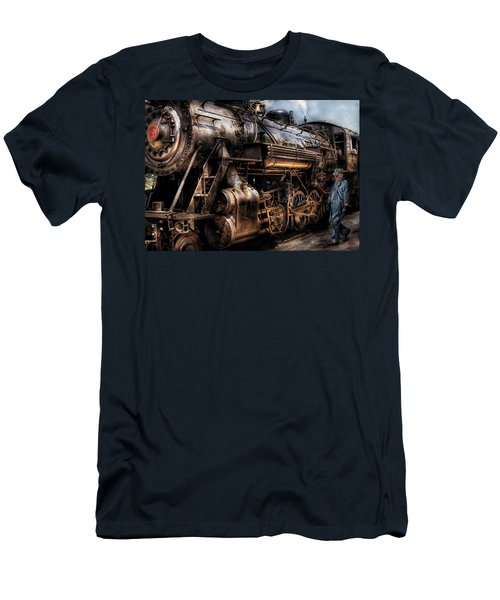Train - Engine -  Now Boarding Men's T-Shirt (Athletic Fit)
