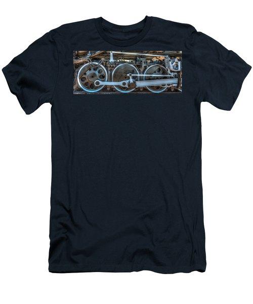 Train Wheels Men's T-Shirt (Slim Fit) by Paul Freidlund
