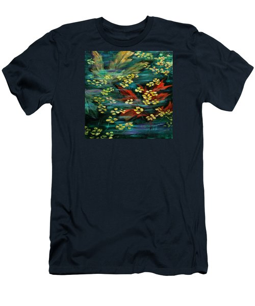 Men's T-Shirt (Slim Fit) featuring the painting Transforming... by Xueling Zou