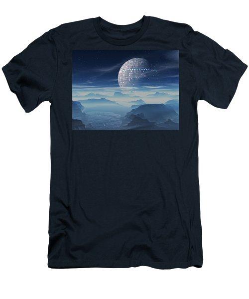 Tranus Alien Planet With Satellite Men's T-Shirt (Athletic Fit)