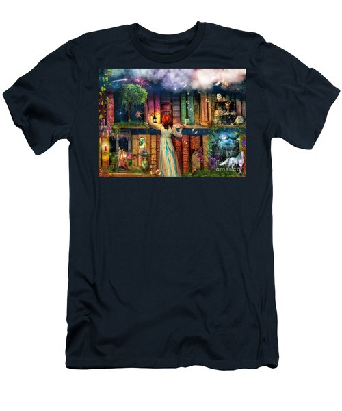 Fairytale Treasure Hunt Book Shelf Variant 2 Men's T-Shirt (Athletic Fit)