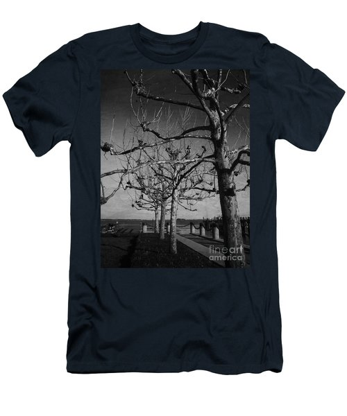 Tree In A Row  Men's T-Shirt (Athletic Fit)