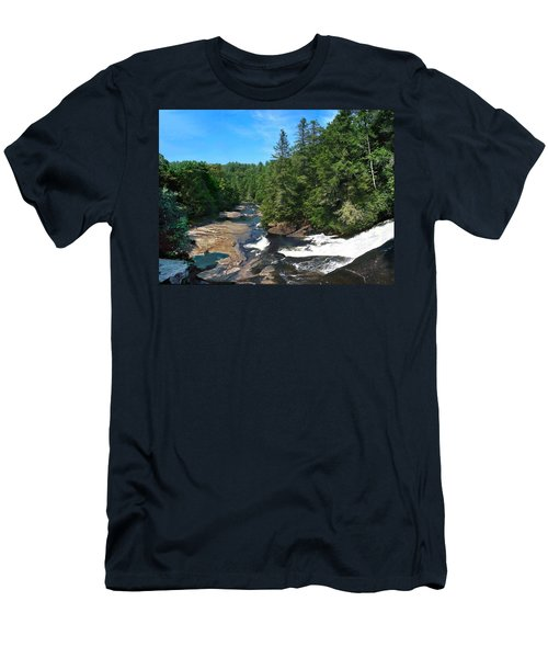 Triple Falls North Carolina Men's T-Shirt (Slim Fit)