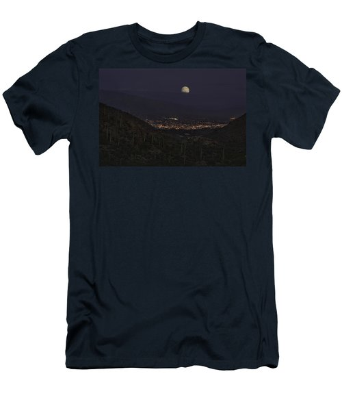 Men's T-Shirt (Slim Fit) featuring the photograph Tucson At Dusk by Lynn Geoffroy