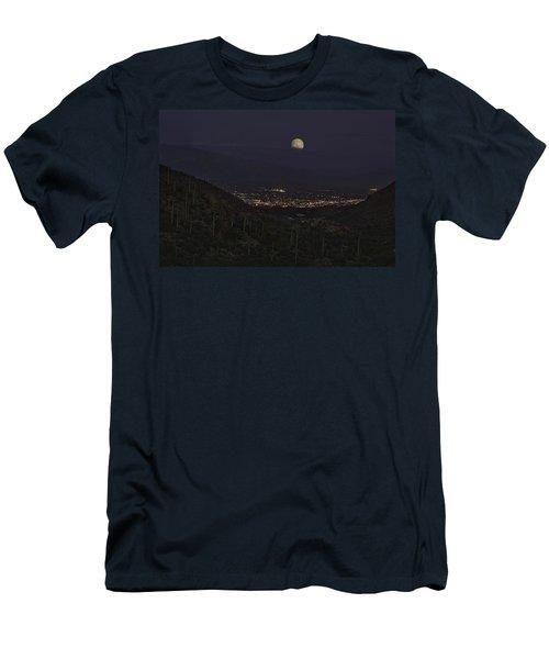 Tucson At Dusk Men's T-Shirt (Slim Fit) by Lynn Geoffroy