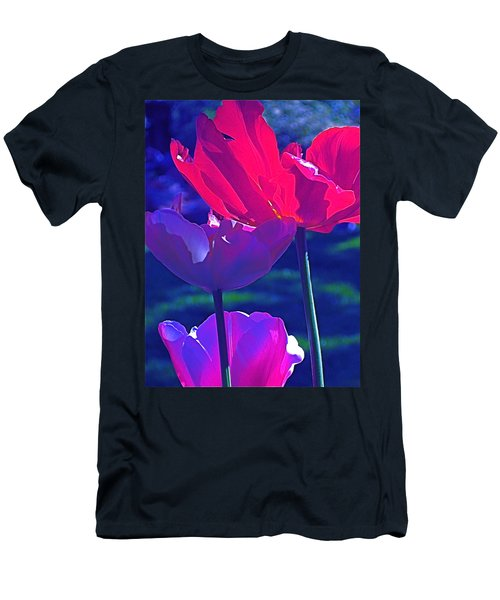 Men's T-Shirt (Slim Fit) featuring the photograph Tulip 3 by Pamela Cooper