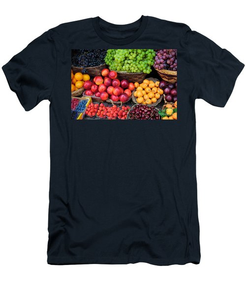 Tuscan Fruit Men's T-Shirt (Slim Fit) by Inge Johnsson
