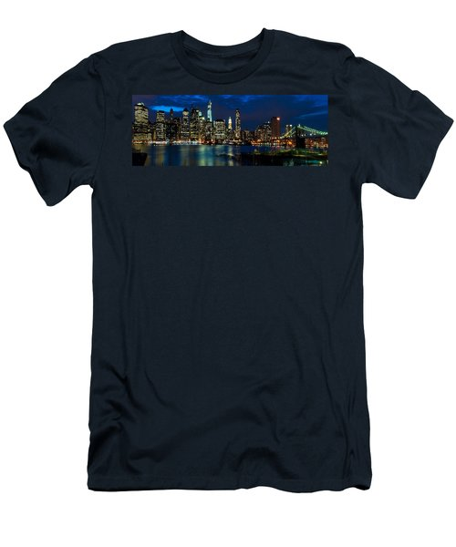 Twilight Nyc Panorama Men's T-Shirt (Athletic Fit)