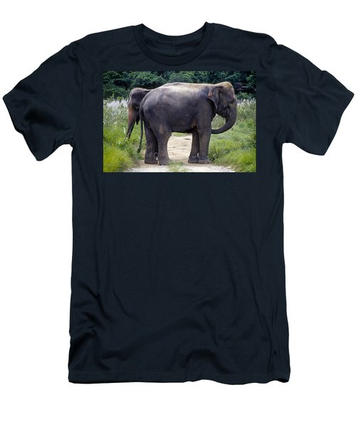Two Elephants Men's T-Shirt (Athletic Fit)