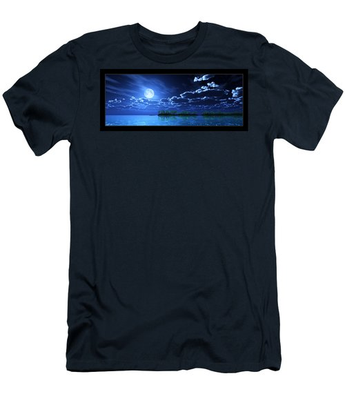 Under A Silvery Moon... Men's T-Shirt (Athletic Fit)