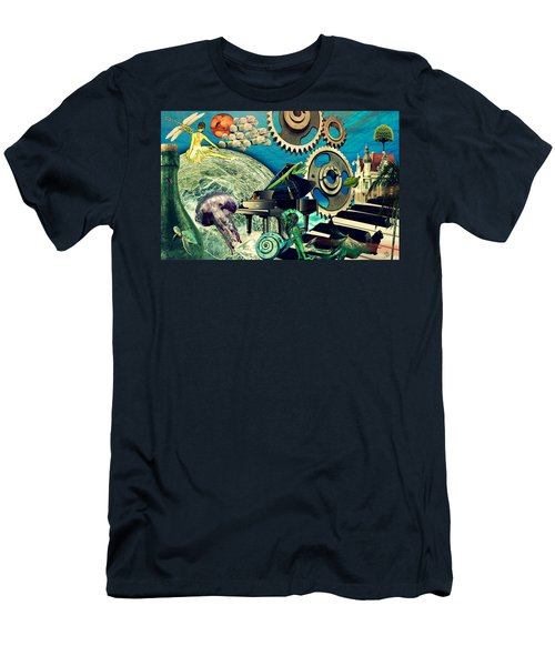Men's T-Shirt (Slim Fit) featuring the digital art Underwater Dreams by Ally  White