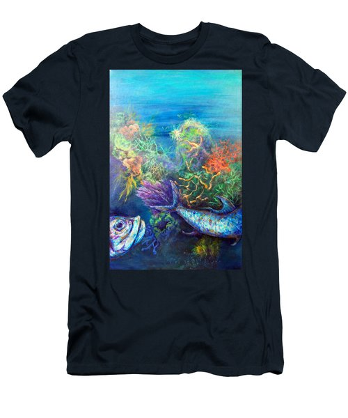 Men's T-Shirt (Athletic Fit) featuring the painting Jesus Reef  by Ashley Kujan