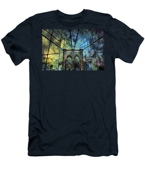 Universe And The Brooklyn Bridge Men's T-Shirt (Athletic Fit)