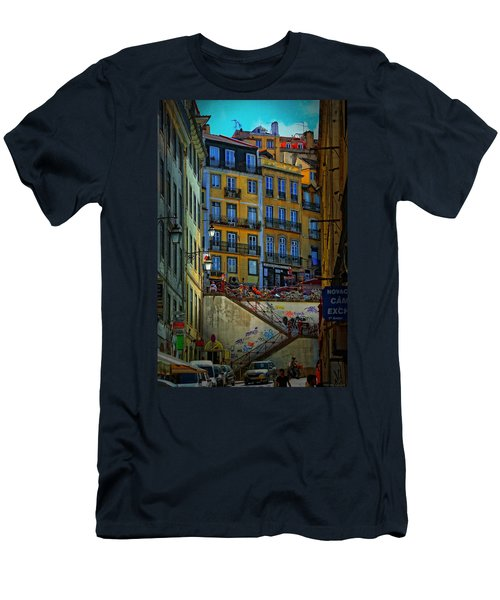 Up The Stairs - Lisbon Men's T-Shirt (Athletic Fit)