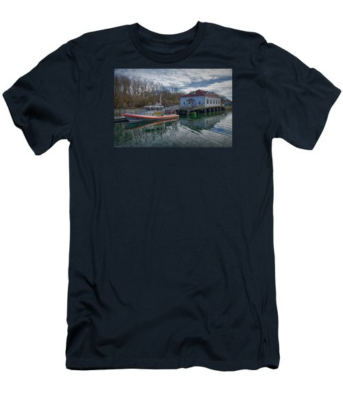 Usgs Castle Hill Station Men's T-Shirt (Slim Fit) by Joan Carroll
