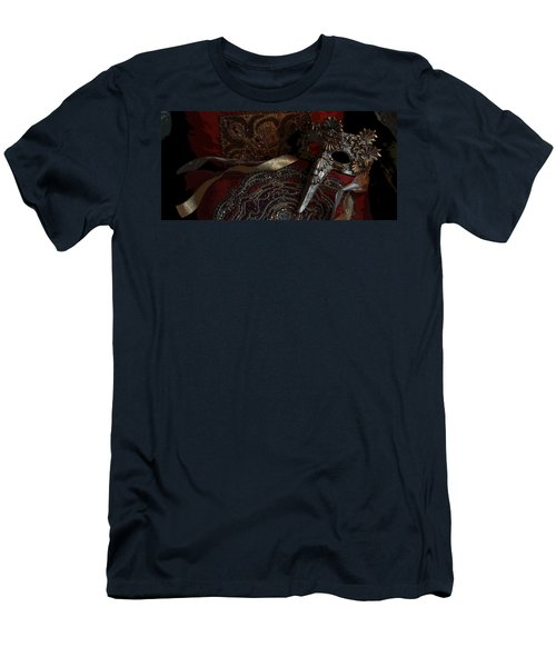 After The Carnival - Venetian Mask Men's T-Shirt (Slim Fit) by Yvonne Wright