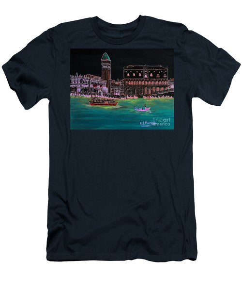Venice At Night Men's T-Shirt (Athletic Fit)