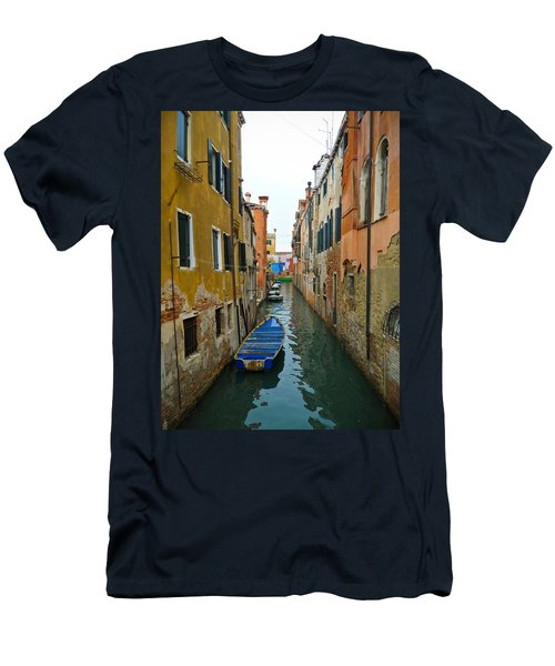 Men's T-Shirt (Slim Fit) featuring the photograph Venice Canal by Silvia Bruno