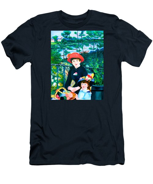 Version Of Renoir's Two Sisters On The Terrace Men's T-Shirt (Athletic Fit)