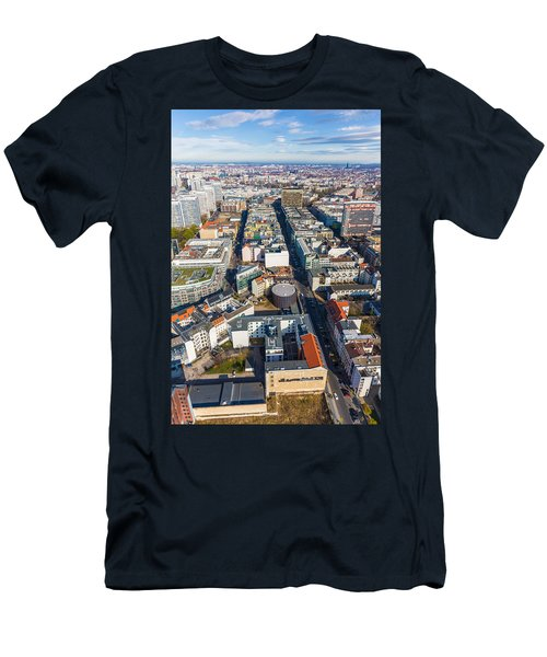 Vertical Aerial View Of Berlin Men's T-Shirt (Athletic Fit)