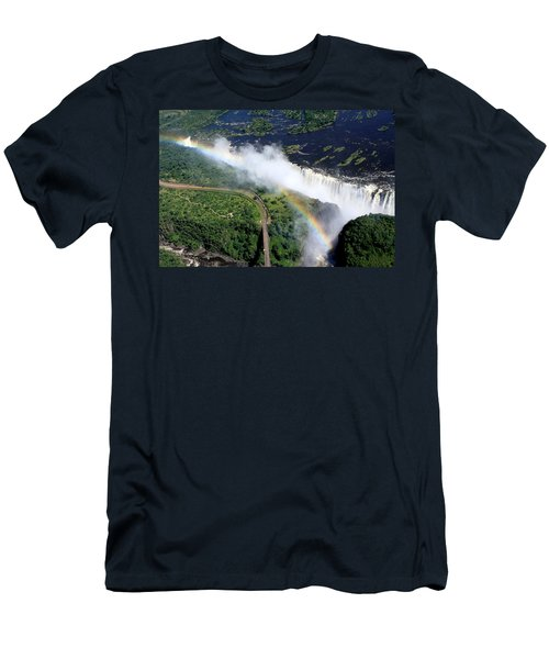 Rainbow Over Victoria Falls  Men's T-Shirt (Athletic Fit)