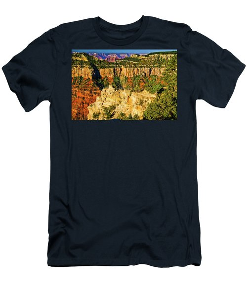 Men's T-Shirt (Slim Fit) featuring the photograph View From Angel Point  by Bob and Nadine Johnston