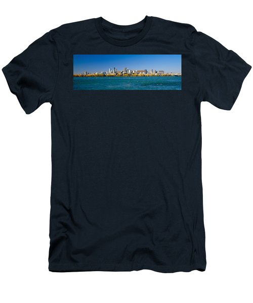 View Of Montreal Skyline And The Saint Men's T-Shirt (Athletic Fit)