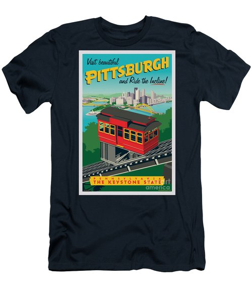 Pittsburgh Poster - Incline Men's T-Shirt (Athletic Fit)